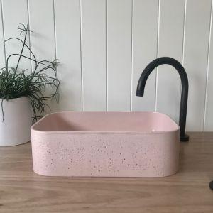 Sienna Powder Basin by DLH Designs | Blush