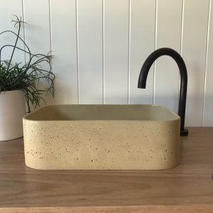 Sienna Powder Basin by DLH Designs | Champagne
