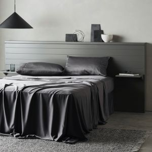 Signature Sateen Fitted Sheet   Slate
