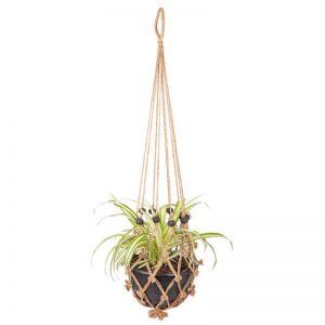 Sika With Black Beads   Set Of 2   Plant Hanger & Pot Holder