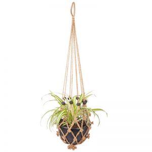 Sika With Black Beads | Set Of 4 | Plant Hanger & Pot Holder