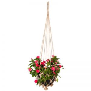 Sika With Rust Red Beads | Set Of 2 | Plant Hanger & Pot Holder