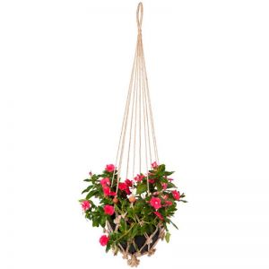 Sika With Rust Red Beads | Set Of 4 | Plant Hanger & Pot Holder