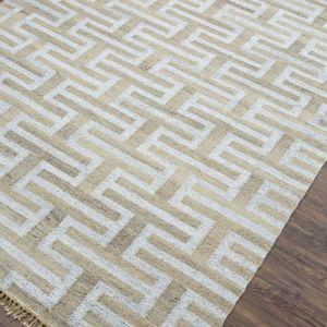 Silver Grey | Natural Handmade Flat Weave Rug