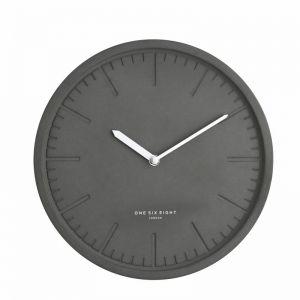 Simone Silent Wall Clock | 30cm | Dark Concrete