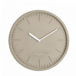 Simone Silent Wall Clock | 30cm | Light Concrete