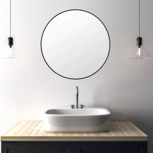 Simplicity Round Metal Mirror