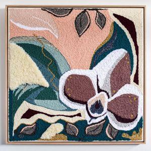 Singing with Rosie | Original Textile Artwork | Framed in Oak