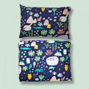 Single Bed Quilt Cover & Pillow Case Set | Beach Forest