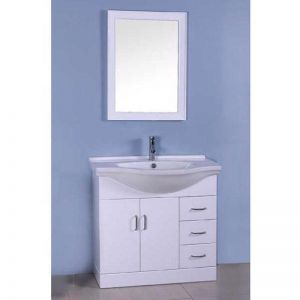 Single White Bathroom Vanity | Modern Furniture