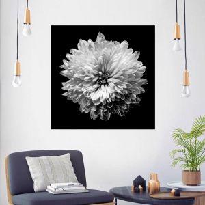 Single White Flower | Canvas Wall Art by Beach Lane