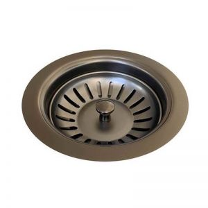 Sink Strainer & Waste Plug Basket With Stopper | Gunmetal PVD Finish | Meir