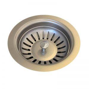 Sink Strainer & Waste Plug Basket With Stopper | PVD Brushed Nickel | Mair