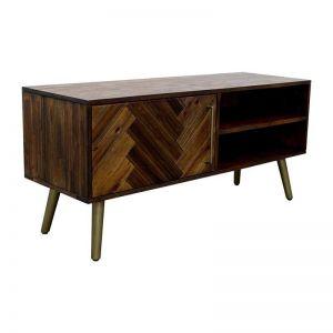 SIVAN TV Entertainment TV Unit 130cm Acacia Solid Wood - Brown