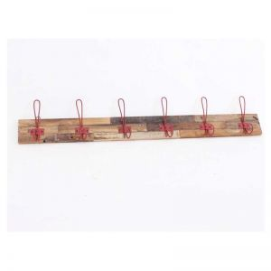 Six Hook Coat Hanger Red Hooks