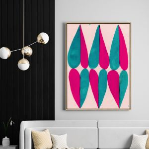 Six of Hearts | Drop Shadow Framed Wall Art