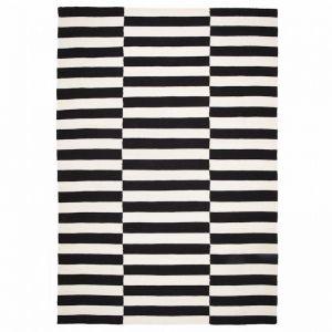 Skansen - Bergen Wool Rug | Back & White