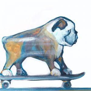 Skater   Art Print by Jane Stadermann