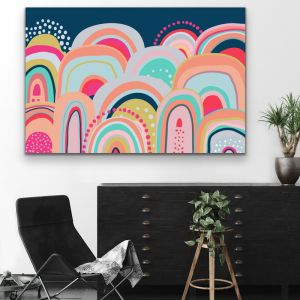 Sky High | Bright Colourful Mountains | Canvas & Paper Art Print