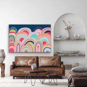 Sky High | Bright  Mountain Canvas & Paper Art Print