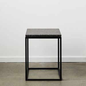SLABS by Design | SIENA Terrazzo Side Table | Graphite