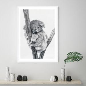 Sleeping Koala Premium Art Print (Various Sizes)