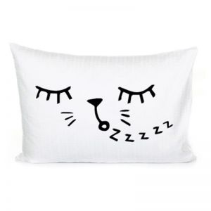 Sleepy Cat Pillowcase by Homely Creatures