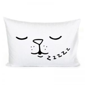 Sleepy Dog Pillowcase by Homely Creatures
