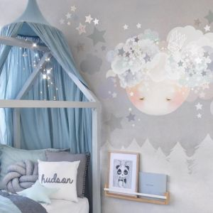 Sleepy Moon Wall Stickers by Schmooks | Blues
