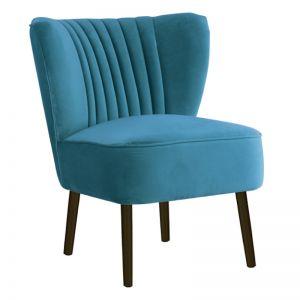 Slipper Chair I Velvet I Adriatic Blue I Darcy & Duke