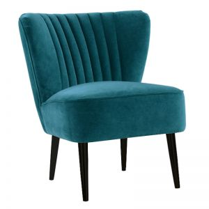 Slipper Chair I Velvet I Aqua I Darcy & Duke
