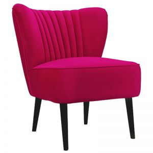 Slipper Chair I Velvet I Hot Pink I Darcy & Duke