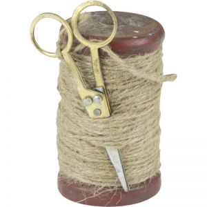 Small Scissor Wooden Spool Twine Holder | Schots