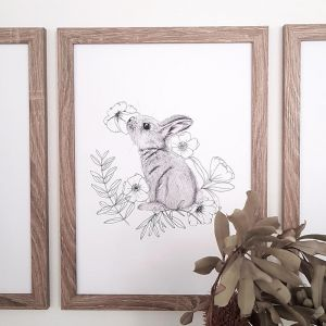 Sniffing Bunny Print