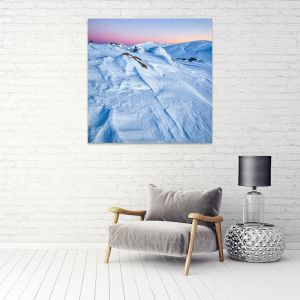 Snow Lines | Canvas Print by Scott Leggo