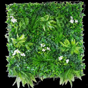 Snowy White Vertical Garden | Green Wall UV Resistant 100cm x 100cm