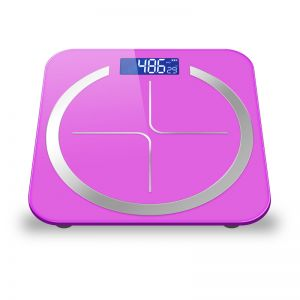 SOGA 180kg Glass LCD Digital Fitness Weight Bathroom Body Electronic Scales Pink