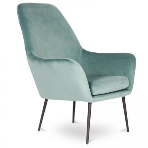 Soho Lounge Armchair | Green Velvet