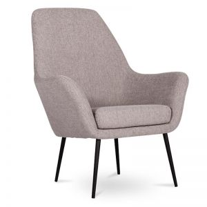 Soho Lounge Armchair | Light Grey Fabric