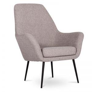 Soho Lounge Armchair | Light Grey Fabric