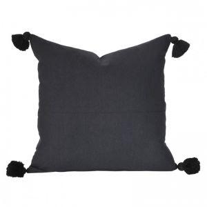 Soho Tassel Cushion | Black | BY SEA TRIBE