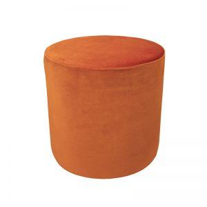 Soho Velvet Ottoman Small | Burnt Orange