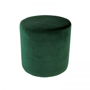 Soho Velvet Ottoman Small | Ivy Green