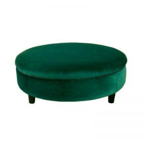 Soho Velvet Ottoman XL with Feet - Ivy Green