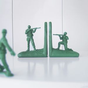 Soldier Bookend Set | Green | White Moose