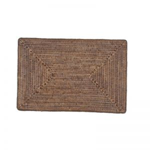 Solid Rattan Rectangular Placemats | Set of 6 | by SATARA