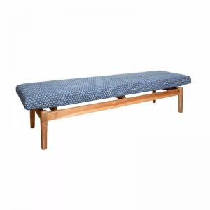 Solid Teak Upholstered Bench | INDIGO