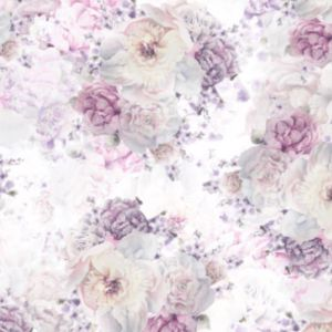 Sorbet Posy Lilac Wallpaper