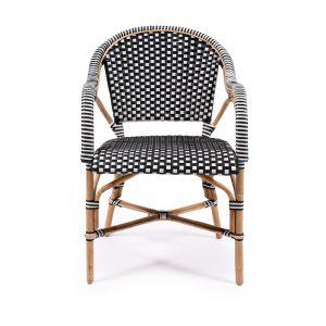 Sorrento Arm Chair | Black & White