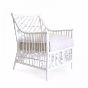 Sorrento Rattan Lounge Chair | White | By Black Mango